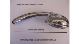 WRightChoice Standard Shower Head (Side View)