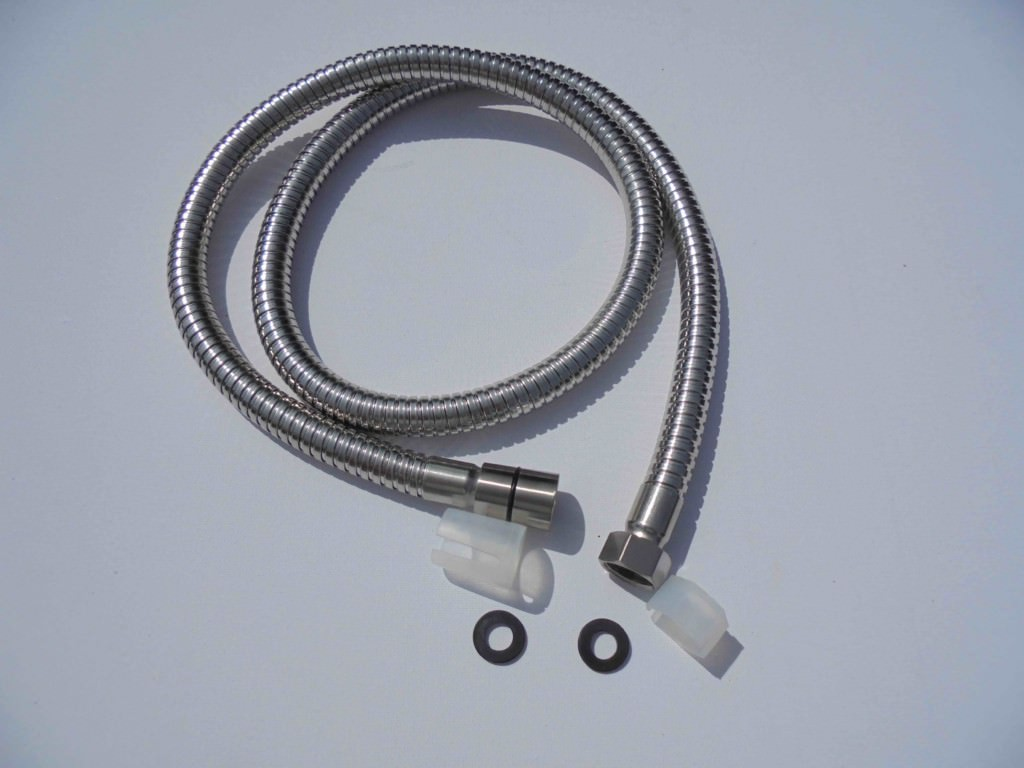 4) 1.75 Metre High Flow Stainless Steel Shower Hose - Standard Size ...